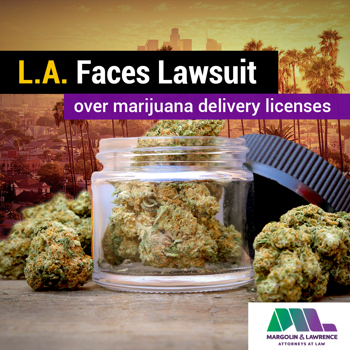 Los Angeles faces lawsuit over marijuana delivery licenses